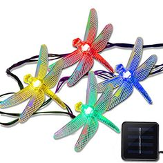 Vmanoo Christmas Solar Garden Lights155ft 20 LED 8 Modes Multi Color Dragonfly Fairy String Light for Bedroom Decorative Outdoor Holiday Patio Landscape Home Valentines Gift *** Want additional info? Click on the image.