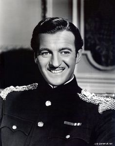 The birth on this March, 1910 of David Niven, the Scottish born film actor whose films included The Pink Panther and The Guns of Navarone. :David Niven in Enchantment Golden Age Of Hollywood, Old Hollywood, Classic Hollywood, Hollywood Icons, David Niven, Deborah Kerr, Old Movie Stars, People Of Interest, Great Films