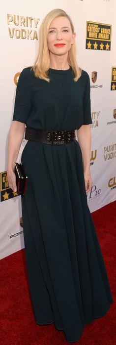 Cate Blanchett on the Critics' Choice Awards red carpet
