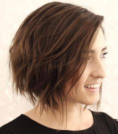 Wispy Brown Bob