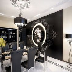 Im not a big Monroe fan but this dining room is lovely