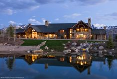luxury log homes | luxury log home