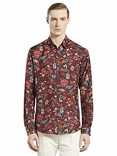 107bb821e17297 Gucci - Floral Pattern Woven Shirt
