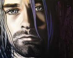 """60"""" X 48"""" painted on a gallery wrapped canvas. Ready to hang. They eyes say it all..."""