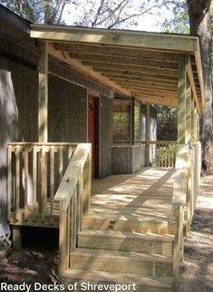 Ready Porch | Ready Deck #gardenideas #garden Mobile Home Renovations, Mobile Home Makeovers, Remodeling Mobile Homes, Mobile Home Deck, Porch Kits, Porch Ideas, Diy Porch, Building A Porch, Porch Roof