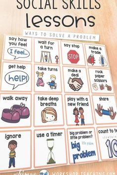 You can create a peaceful and productive classroom by teaching essential social skills to students in Kindergarten or Grade including self management, conflict resolution, growth mindset and friendship lessons. Articulation Activities, Speech Therapy Activities, Social Emotional Learning, Social Skills, Friendship Lessons, Classroom Welcome, Play Therapy Techniques, Social Thinking, Primary Classroom