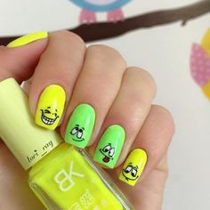 62+ Best nail art design ideas with smilie 2018