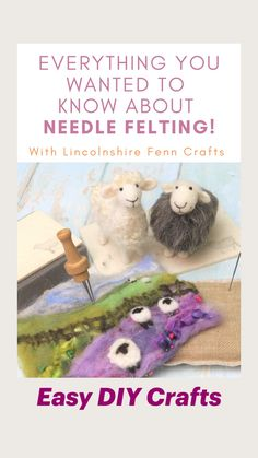 Felt Animal Patterns, Felt Crafts Patterns, Felt Crafts Diy, Felt Diy, Easy Diy Crafts, Sewing Crafts, Burlap Crafts, Needle Felting Tutorials, Needle Felting Kits