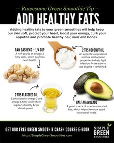 How to Add Healthy Fats to Your Green Smoothies - Simple Green Smoothies