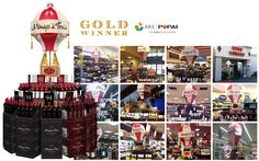 Ménage à Trois Wine Vintage Hot Air Balloon Gold Winner | 2015 West Coast POPAI Awards Floor-stand Display Non-Permanent Design: Jerry Braccia | Producer: Packaging Arts