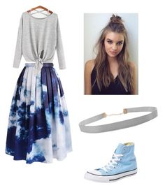 """""""Blue Skies"""" by pam-casner on Polyvore featuring Chicwish, Converse and Humble Chic"""