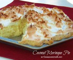 Coconut Meringue Pie {Grannys Recipe}