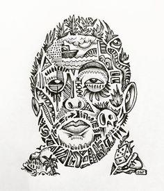 The Don by @capetownape - David Choe fan art