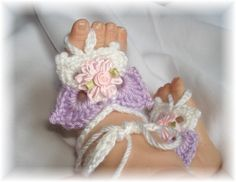 Boutique Butterfly Barefoot Baby Sandals by AlexsAngels on Etsy, $15.00