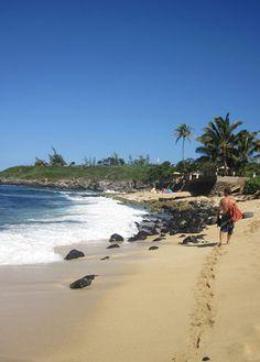 Surfing at Hookipa Bay, Paia ~ Maui.