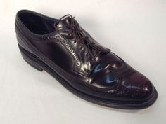Florsheim MEN'S SHOES Wingtip Size 10.5 C Burgundy Vintage #Florsheim #WingTip