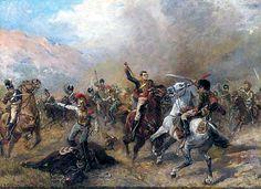 Capitaine Ramsay à la bataille de Fuentes de Onoro Military Art, Painting, Empire, British, Soldiers, Battle Of Waterloo, Napoleon, Saint Petersburg, Auction