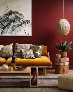 Need a new garden or home design? You're in the right place for decoration and remodeling ideas.Here you can find interior and exterior design, front and back yard layout ideas. Color Terracota, Living Room Red, Warm Colours Living Room, Ethnic Living Room, Condo Living, Living Spaces, Red Rooms, Red Walls, Color Walls