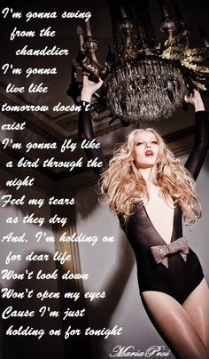 Sia chandelier lyrics video hd youtube fav songs chandelier sia mozeypictures Gallery