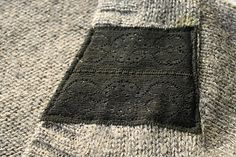 refashion: add stripes to a sweater using lace