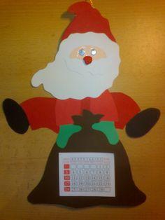Ιδέες για Χριστουγεννιάτικα ημερολόγια. Εκτυπώστε το πατρόν που υπάρχει και ξεκινήστε το δικό σας ημερολόγιο ;) Φεγγάρι με κοιμισμένο αγγελάκι:... Drink Sleeves, Calendar, Blog, Christmas, Crafts, Craft Ideas, Molde, Xmas, Manualidades