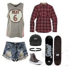 """""""Skate away"""" by unknown08 ❤ liked on Polyvore featuring Unk, Burton, Vans, Converse and Amanda Rose Collection"""