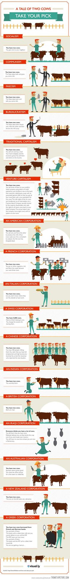 The world's economy explained using just two cows #accountinghumour