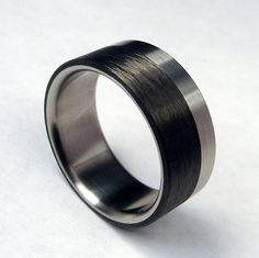 Carbon Fiber and Titanium Ring
