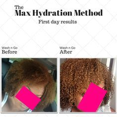 """Photo courtesy of maxhydrationmethod.com  The Max Hydration Method (MHM for short) is, according to maxhydrationmethod.com, """"a 5 step regimen that systematically increases moisture leve…"""