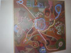 Gedeelde Vriendschap, acryl op doek, 100x100, 2003 (kadootje voor Erica)