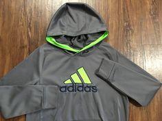 Adidas Boys Gray Blue Lime Green Seahawks Hoodie Size Large 14 16   eBay