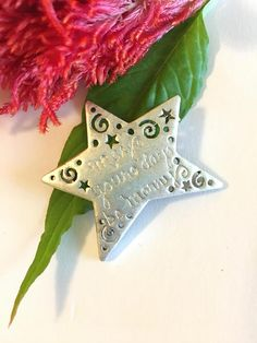 Silver Christmas Star Brooch Vintage Danecraft May Your Days