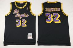 a8f84ea70fe4 Los Angeles Lakers Magic Johnson Los Black Hardwood Classics Soul Swingman  Throwback Jersey on sale for Cheap