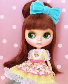 "362 Likes, 3 Comments - usaron *Saki Yamashita* (@usaron) on Instagram: ""Fluffy Roses dress #blytheconjapan #blythe #ブライス #ベイビーズブレス"""