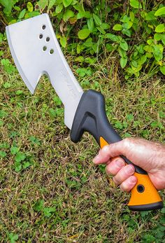 Chop thick roots, vines and small branches easily with a hatchet. Click in to learn how to use a hatchet with helpful gripping and chopping techniques. This tool is a must have while cleaning up your yard and garden for the coming spring.