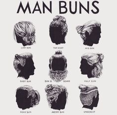 "Man buns: As T. Dekker used to tell: ""Long hair will make thee look dreadfully to thine enemies, and manly to thy friends: it is, in peace, an ornament; in war, a strong helmet"""