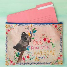 Your koalities are awesome! Cute koala recycled pouch!
