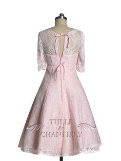 Blush Pink Elegant Illusion Lace Overlay Long Sleeves Bridesmaid Dresses 4