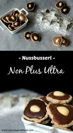 Klassische Nussbusserl mit meinem speziellen Non Plus Ultra - ein tolles Keks-Rezept