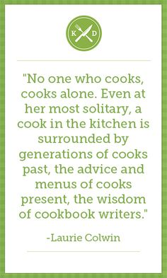 Remember: there is no such thing as a lonely chef! Don't forget to visit Kitchen Daily for more food inspiration!