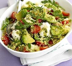 """Tricolore couscous salad - Eat Your Books is an indexing website that helps you find & organize your recipes. Click the """"View Complete Recipe"""" link for the original recipe."""