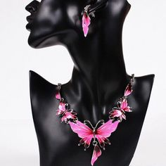 The gorgeous butterfly necklace How sexy would you look in this beautiful pink butterfly necklace. Jewelry Necklaces