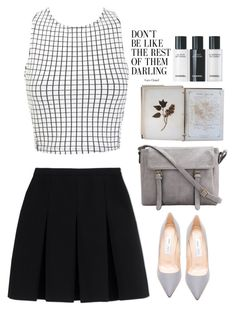 """Darling"" by laslow ❤ liked on Polyvore featuring Miss Selfridge, Alexander Wang, Jimmy Choo and FOSSIL"