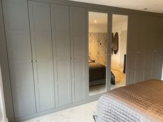Dark Grey Shaker Style fitted wardobes Fitted Bedrooms, Master Bedrooms, Bedroom Storage, Bedroom Decor, Fitted Wardrobes, Shaker Style, Surrey, London, Dark Grey