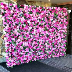 No, we can't believe it's fake either! We created this gorgeous pink flower wall with over 50 types of silk and PU roses, peonies and a little bit of hydrangea. We specialize in ultra realistic, high quality floral backdrops and our Aninia Flower Wall is one of our faves!