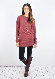 Knit Blouson Tunic Sale | S-XL