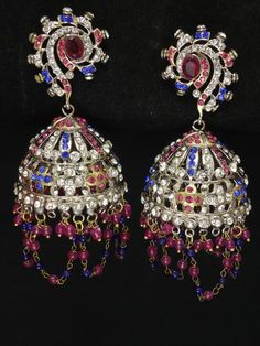 Indian Jewellery, victorian earrings from India @ http://www.khushrang.com
