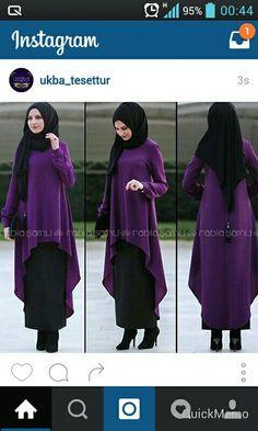Tesettür kıyafet Hijab Wear, Hijab Dress, Hijab Outfit, Islamic Fashion, Muslim Fashion, Modest Fashion, Dress With Cardigan, Blouse And Skirt, Modest Dresses