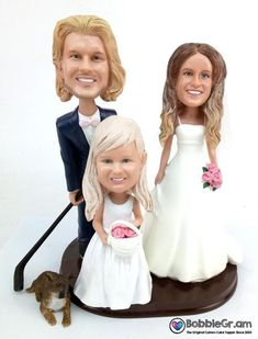 Custom cake toppers for Sculpted to look like the bride and groom based on your photos. Military Wedding Cakes, Hockey Wedding, Military Cake, Custom Wedding Cake Toppers, Bride Dolls, Mix Match, Classic Style, Groom, Flower Girl Dresses