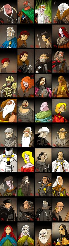 A SONG OF ICE AND FIRE 2 by ~themico on deviantART | A Game of Thrones cartoon characters | Follow here http://pinterest.com/cakespinyoface/geek-of-thrones-a-storm-of-boards/ for even more Game of Thrones Geekery-- original art, mashups and more!